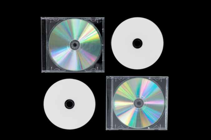 photo of four compact disc